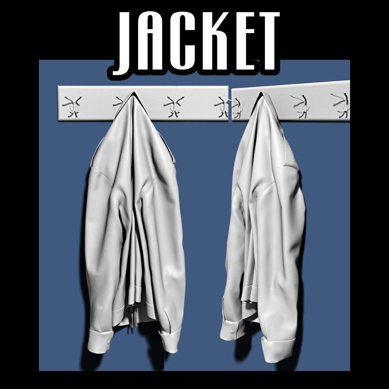 jacket coat rack 3d obj