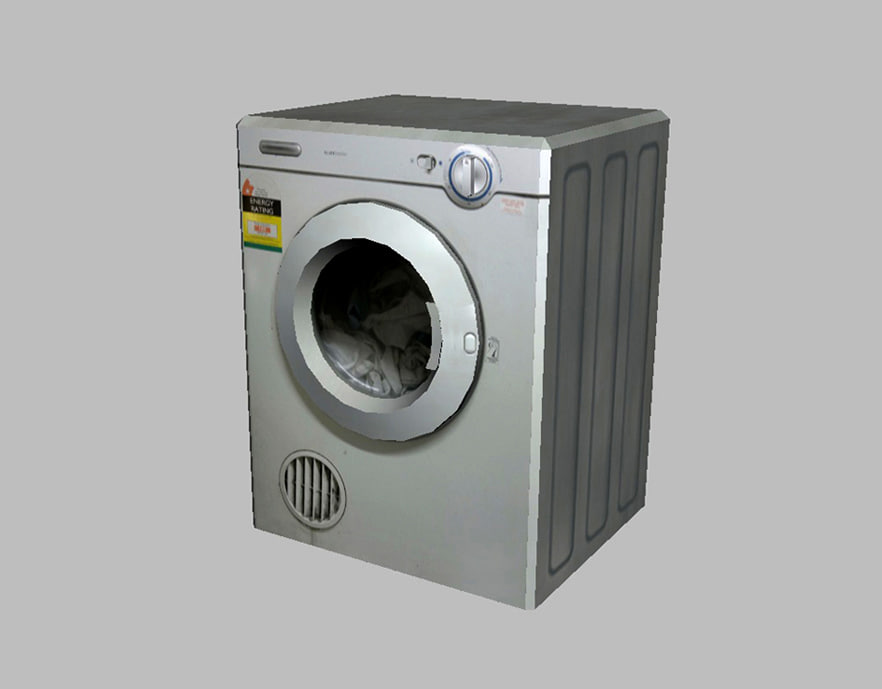 Animated Tumble Dryer ~ D laundry dryer