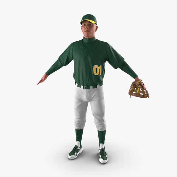 baseball player generic 3d max