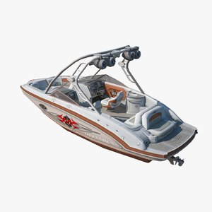 motorboat chaparral xtreme 3d max