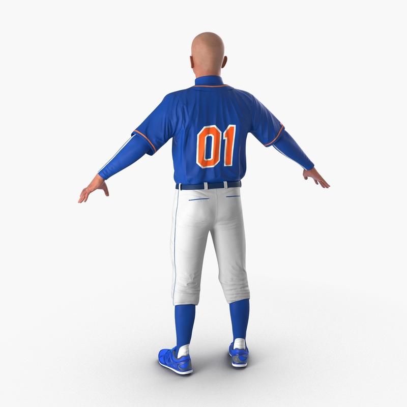 baseball player generic 4 3d model