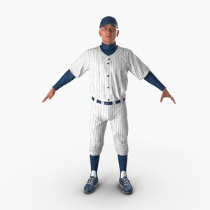 3d model of baseball player generic 5