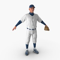 baseball player generic 6 3d model