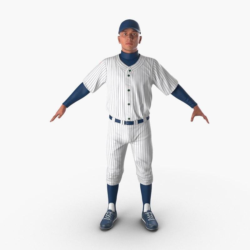 3d model of baseball player generic 5