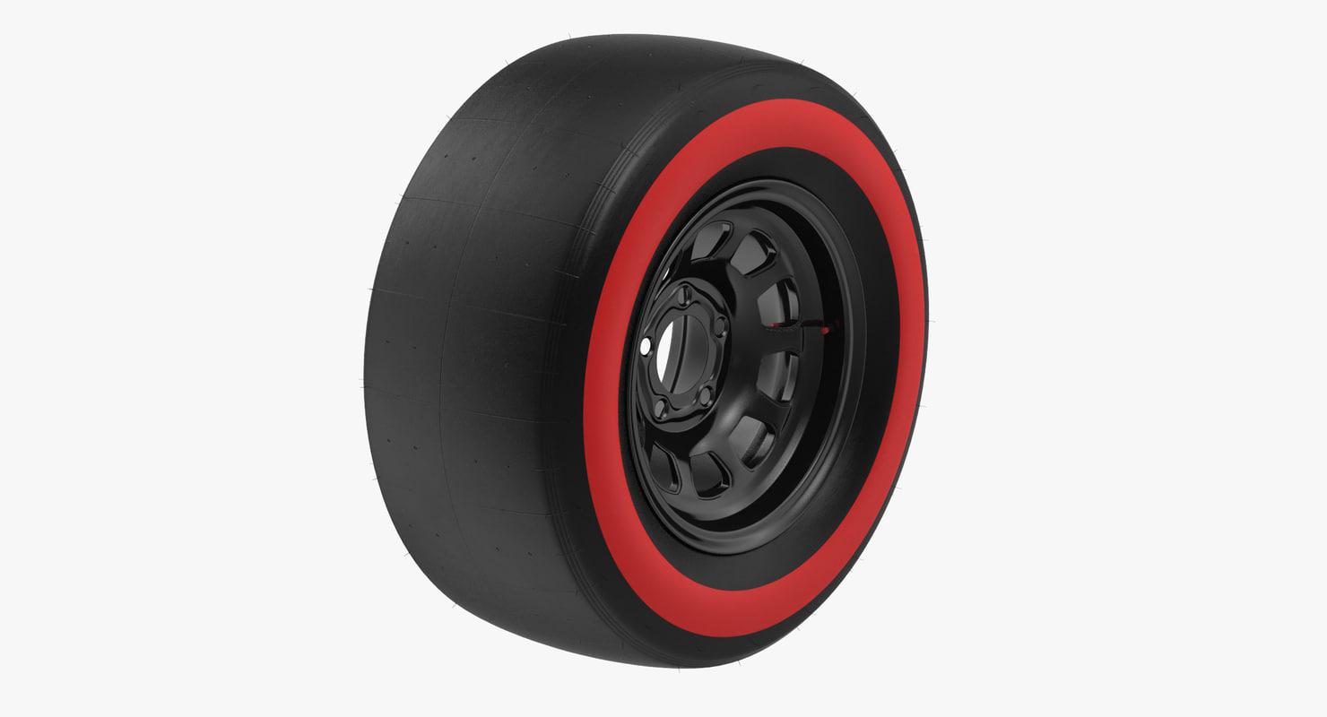 racing tire c4d