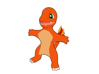 cartoon charmander dxf