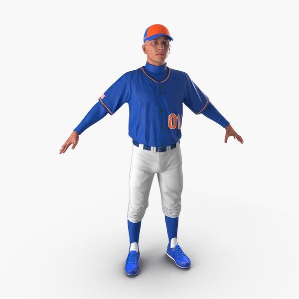 3d model baseball player generic 3