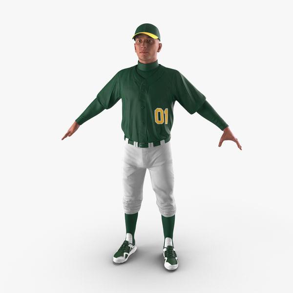 3d max baseball player generic 2