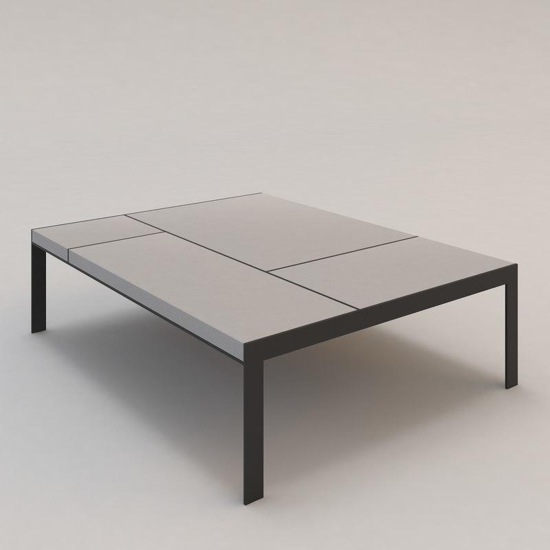 3d contemporary gauguin coffee table model