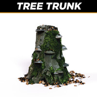 trunk tree plants 3d model
