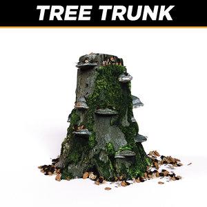 trunk tree plants 3d model