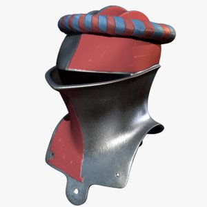 3d medieval jousting helmet paint