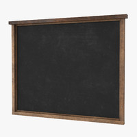 3d menu chalkboard wall - model