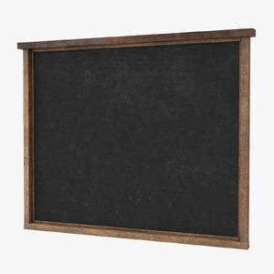 3d menu chalkboard wall - model
