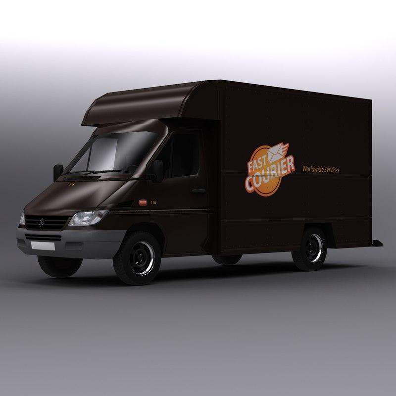 delivery van 3d 3ds