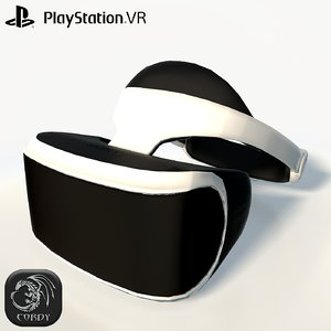 3d model sony play station vr