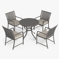 patio furniture set chair 3d max
