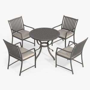 patio furniture set chair 3d max