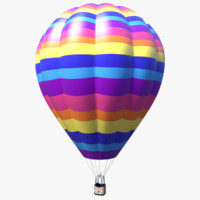 hot air balloon 3d obj