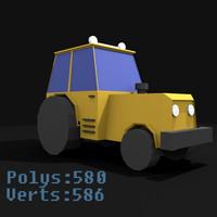 tractor mini 3d model