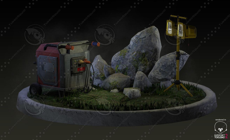 3d max environment props generator spotlight
