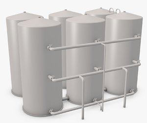 3d model of industrial boilers
