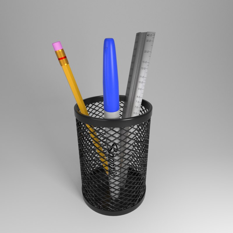 3d pen pencil holder model