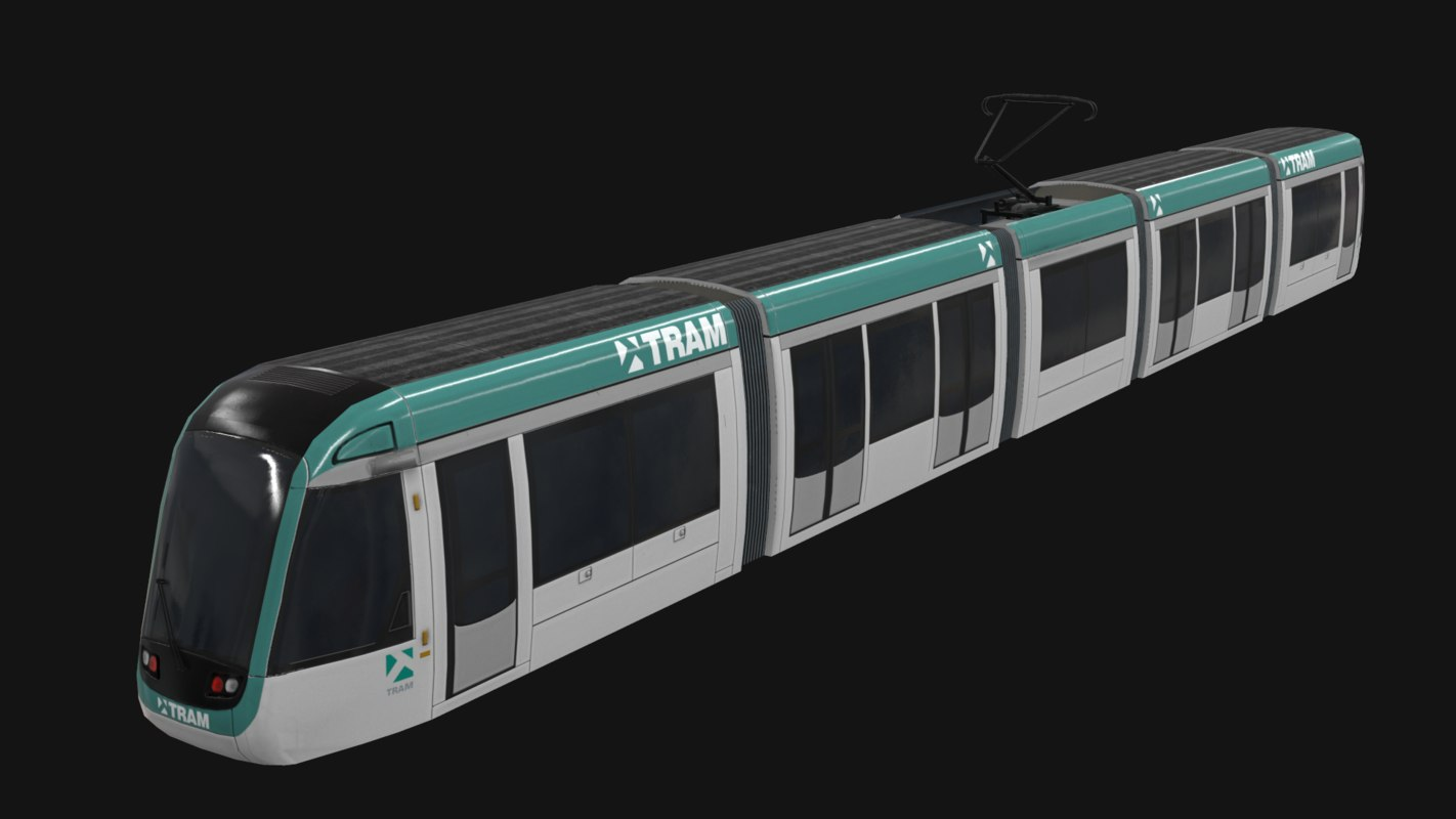 low-poly alstom citadis 302 3d 3ds