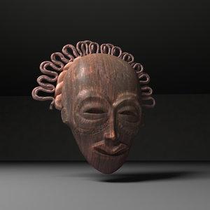 voodoo mask fbx