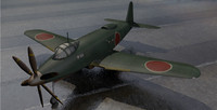 3d model of yokosuka r2y1 keuin fighter aircraft