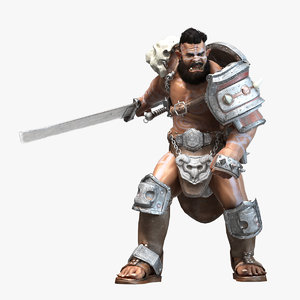 3d orc rigged character model