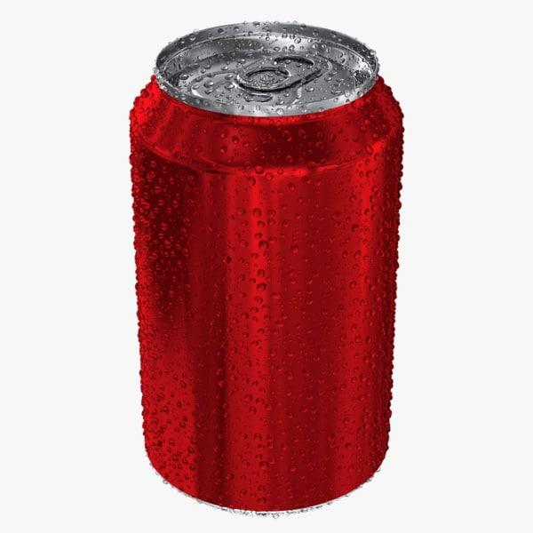 realistic water soda 3d model