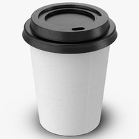 Coffee Cup Empty 8oz Takeout 2