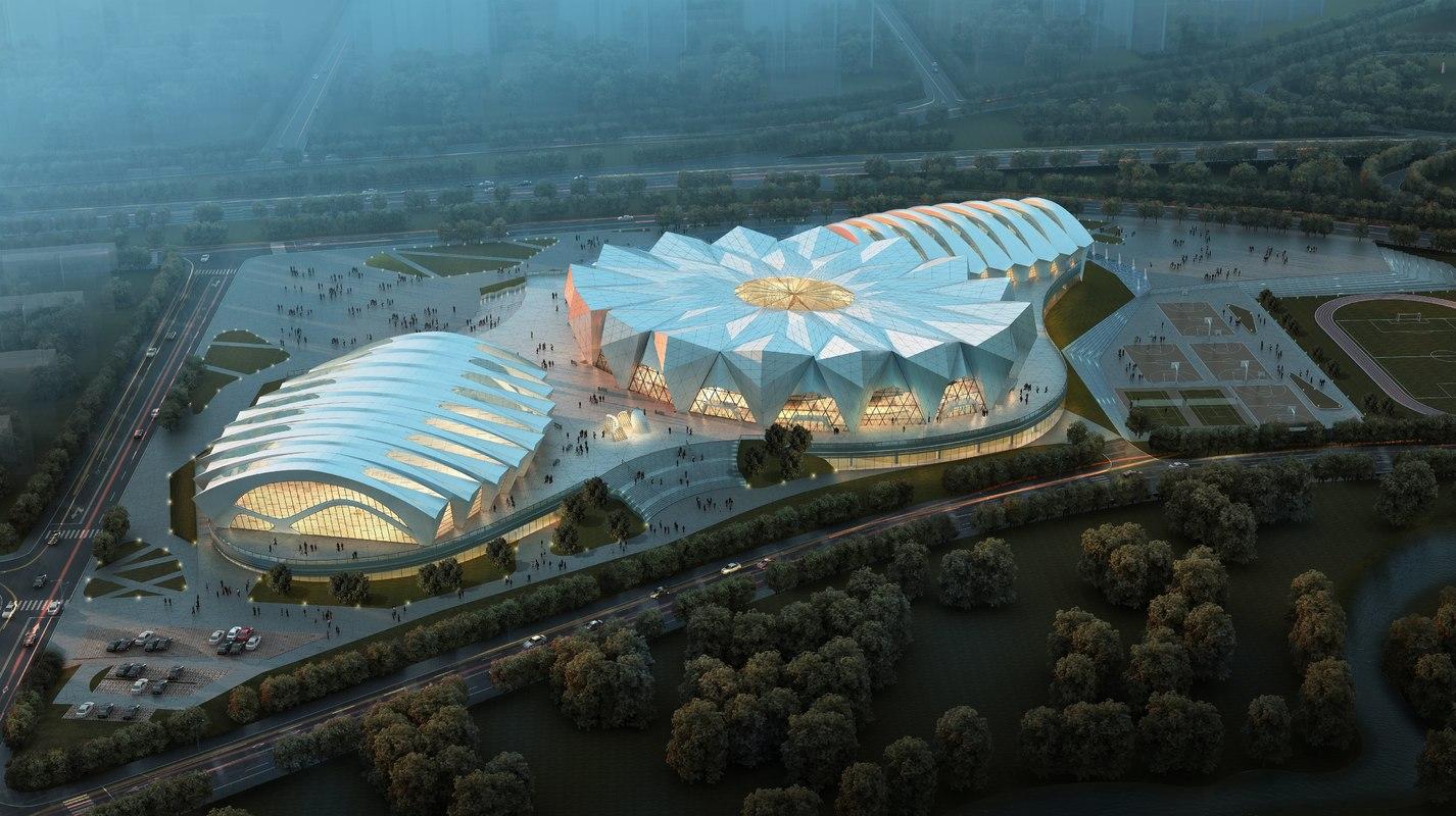 3d sports stadium model