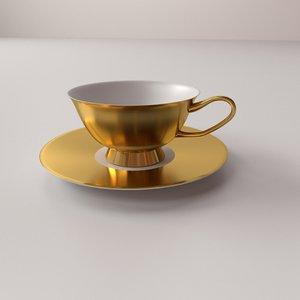 3d cup saucer v2 model