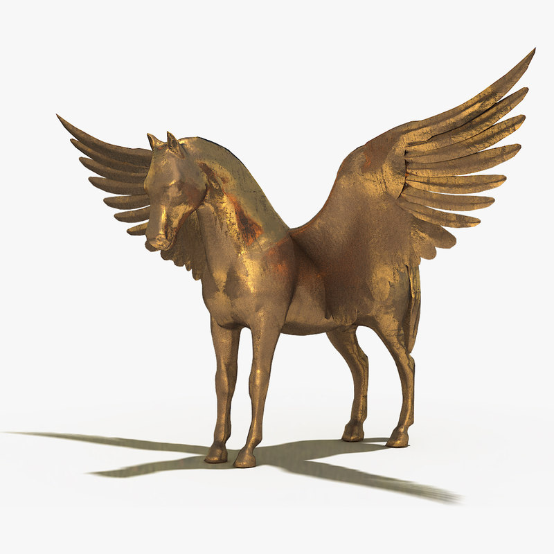 pegasus sculpture 3d model