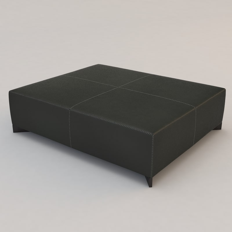 3d model leather galet coffee table