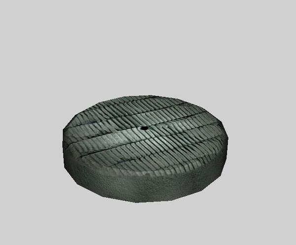 3d model buff pad