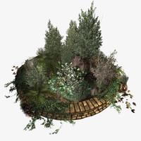 underbrush overgrown 3d obj