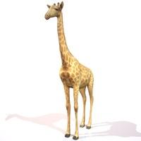 giraffe realistic 3d model