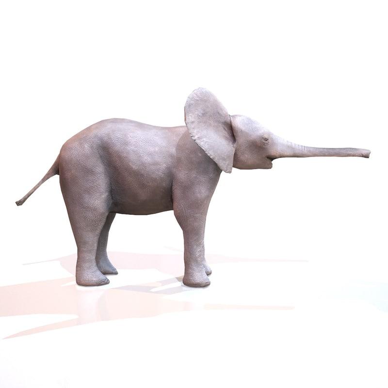 african mammal realistic obj