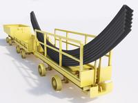 3d cart coal materials model