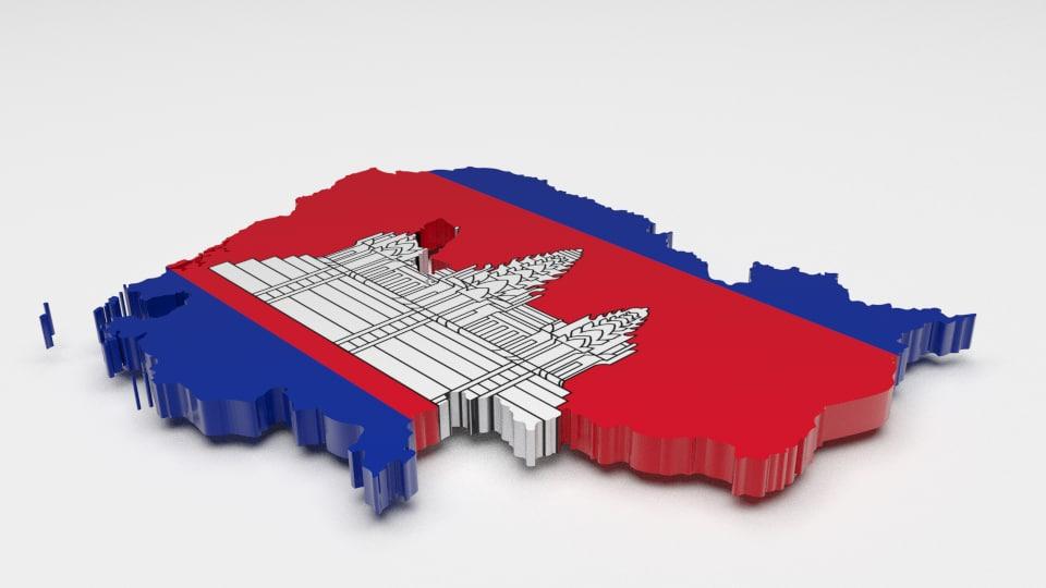 3d 3ds cambodia flag