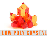Crystal Emerald Diamond Gemstone Lowpoly