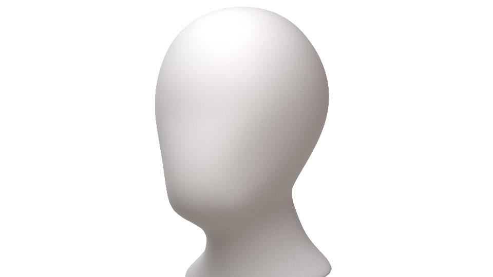 3d mesh perfect base human head model