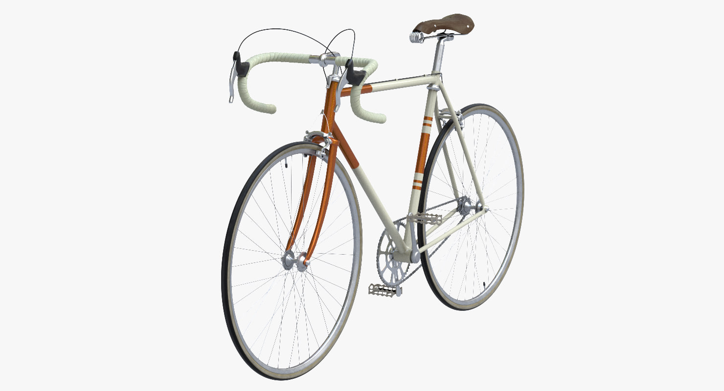 3d vintage bicycle model