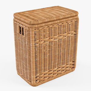 3d wicker laundry basket color