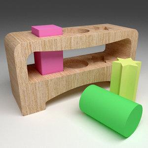 wood wooden 3d model