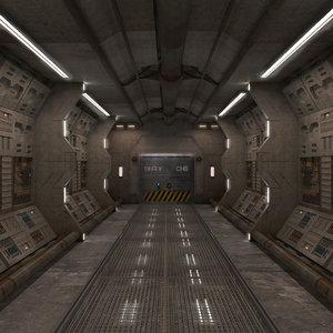3d model corridor interior