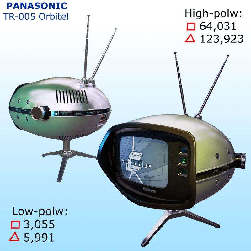 retro tv panasonic tr-005 3d fbx